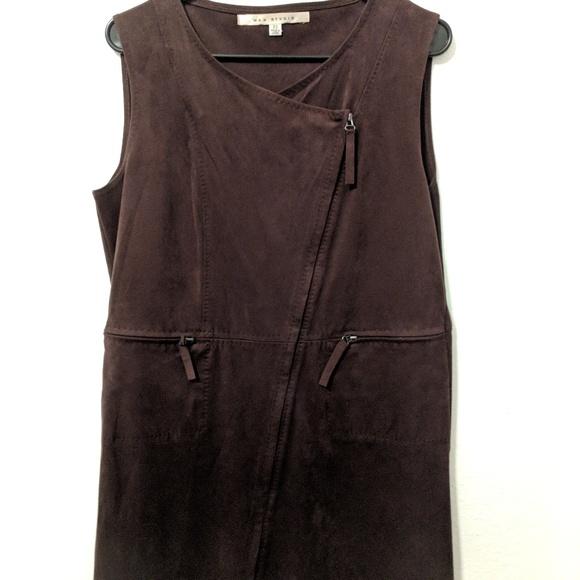 Max Studio Dresses & Skirts - Max Studio Suede Zip Up Dress